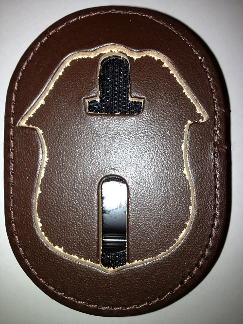 ARMY CID AGENT BADGE BELT CLIP HOLDER - BROWN