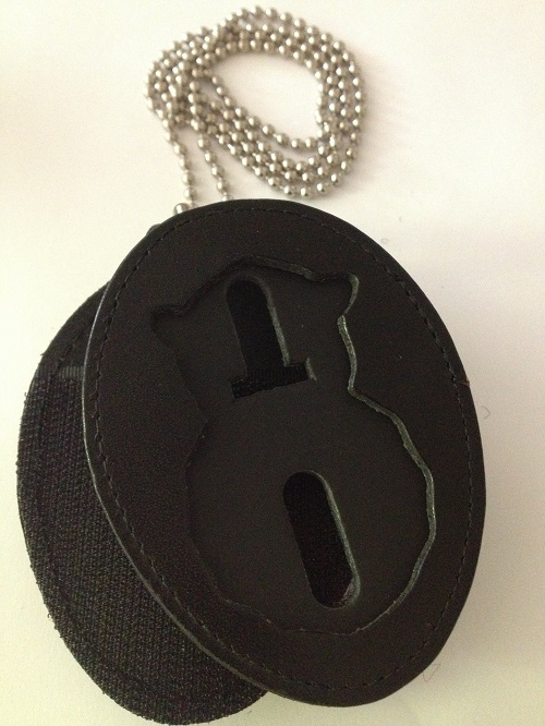USAF Badge BELT CLIP Holder WITH Chain- NO BADGE