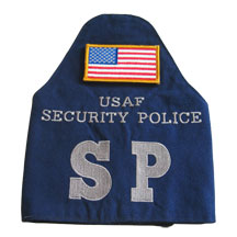USAF SP CORDURA NYLON BRASSARD w/Velcro Flag - SECURITY POLICE