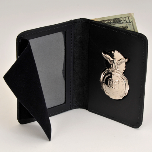 USAF SP Leather Cred/Badge Case with Money Insert & BADGE