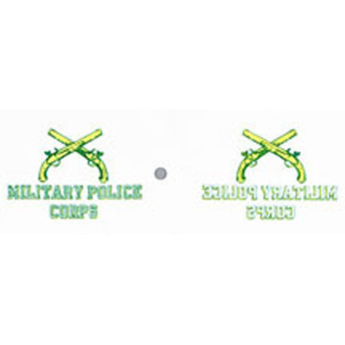 "MILITARY POLICE CROSSED PISTOL DECAL 4"" X 6"""