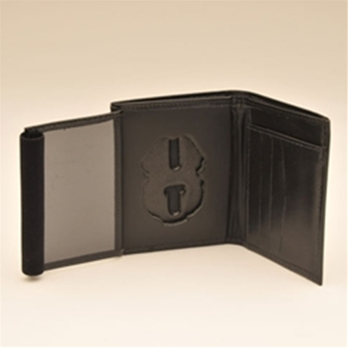 "MP LEATHER CRED/BADGE CASE W/CC Slots, Money Insert-Regular Size; ID Size 2.75"" X 4.13"""