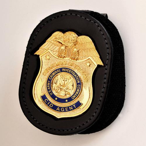 REPLICA CID AGENT BADGE WITH BADGE BELT CLIP HOLDER