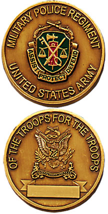 ARMY MP REGIMENT U.S. COIN (Solid Bronze!)