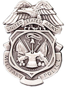 ARMY MILITARY POLICE BADGE -SILVER OX (Subdued Finish)