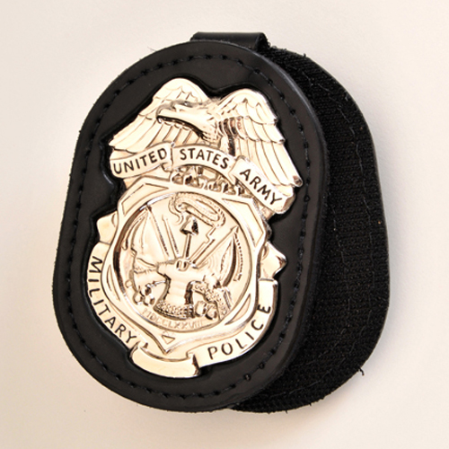 ARMY MILITARY POLICE INVESTIGATORS MPI BADGE HOLDER with NICKEL Badge (Shiny Finish)