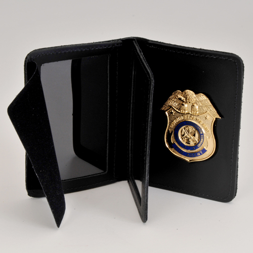 CID LEATHER CRED/BADGE CASE-NO Money Insert- W/BADGE