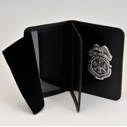 MPI LEATHER CRED/BADGE CASE WITH SILVER OX BADGE