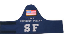 USAF SF CORDURA NYLON BRASSARD w/Velcro Flag - SECURITY FORCES