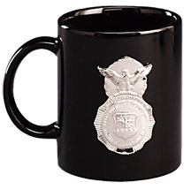 USAF SECURITY POLICE BADGE COFFEE MUG