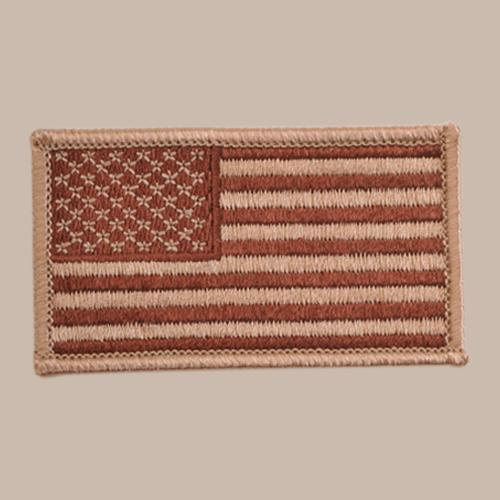 U.S. FLAG PATCH - Desert Tan - Forward Facing